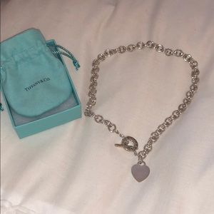 Tiffany & Co Heart Charm Toggle Necklace 18""